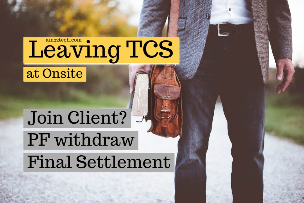 Leaving TCS at Onsite - Bond Breaking and Skill letter issues and answers