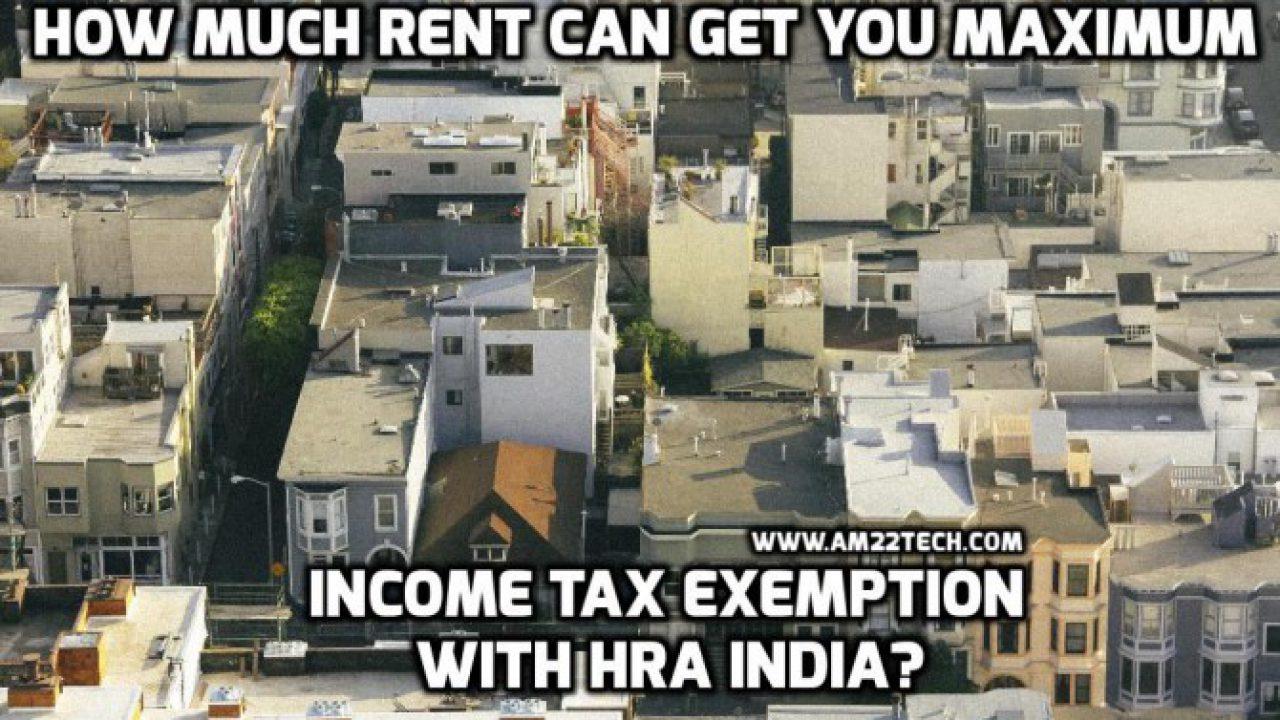 HRA Exemption India Rent Calculator 2019-20 - AM22 Tech