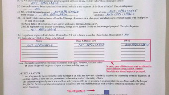 NRI passport renewal form page 2 for India