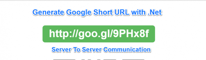 Using Gogle URL hortener api in dot net