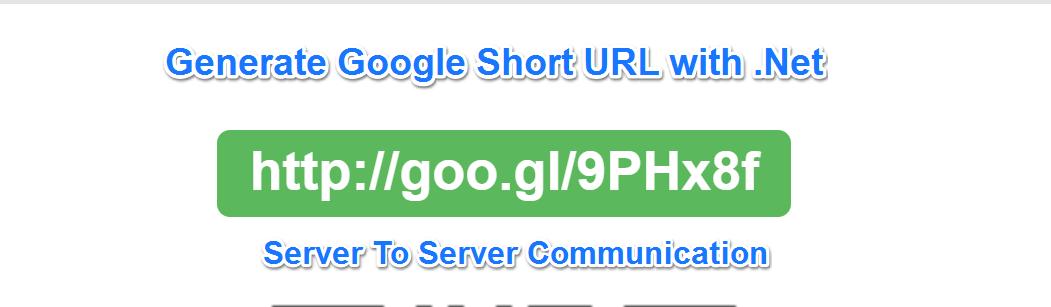 Using Gogle URL hortener api in dot net
