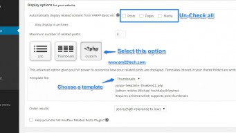 YARPP custom templates - wordpress settings
