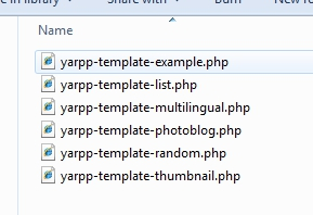 YARPP custom templates are available in its Plug-in folder