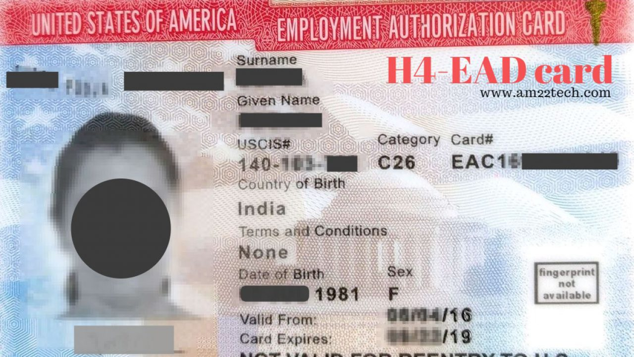 H4 EAD Sample Form I-765, Documents Required - AM22 Tech