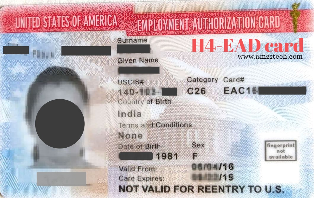 H4 Ead Documents Sample New Application And Renewals Am22 Tech