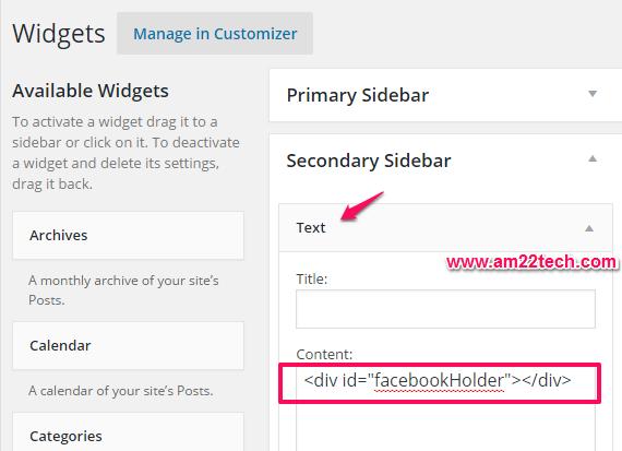 Load Facebook like box on scroll in WordPress
