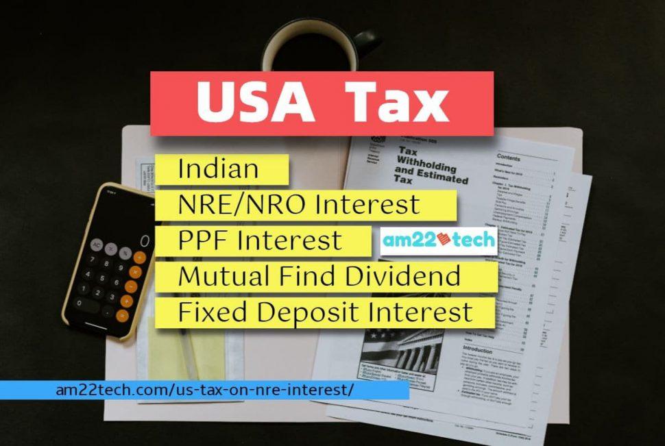 US tax - NRE/NRO interest - Indian Income PPF