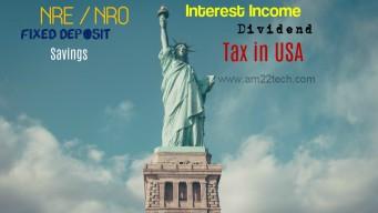 US tax on NRE FD interest