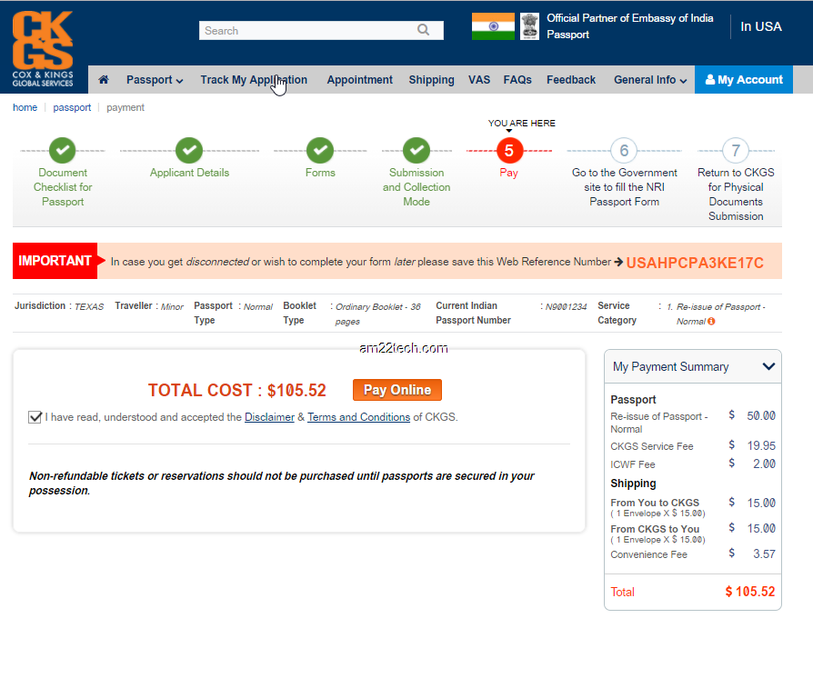 Renew Indian Passport In Usa With Ckgs By Post Am22 Tech