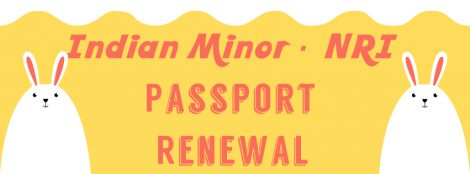 Renew Indian minor passport