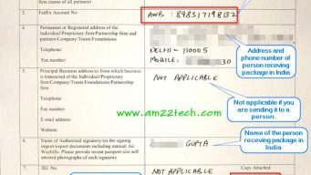 Fedex sample KYC form for custom clearance in India