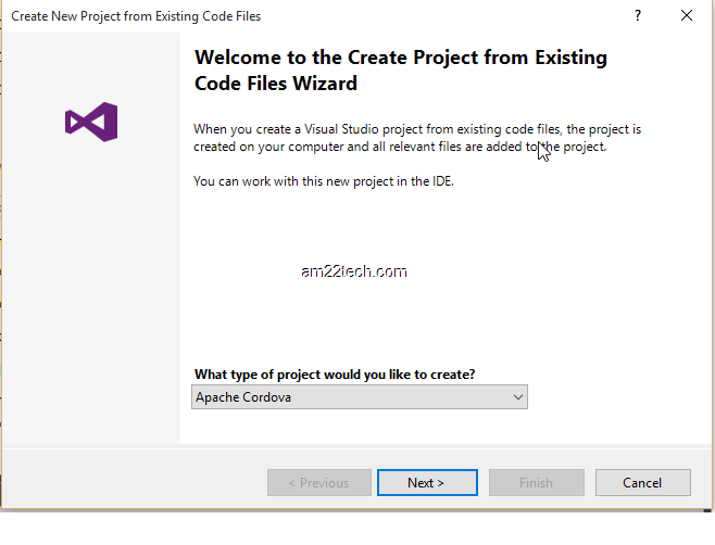 Visual Studio 2017 New Ionic project from existing code