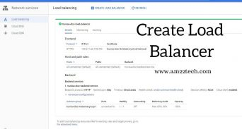 Google load balancer configuration