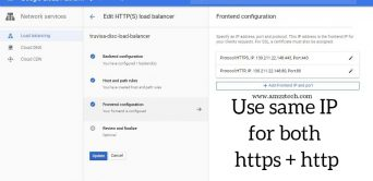 HTTP front-end set up load balancer