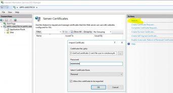 Install zero ssl certificate pfx file on windows IIS