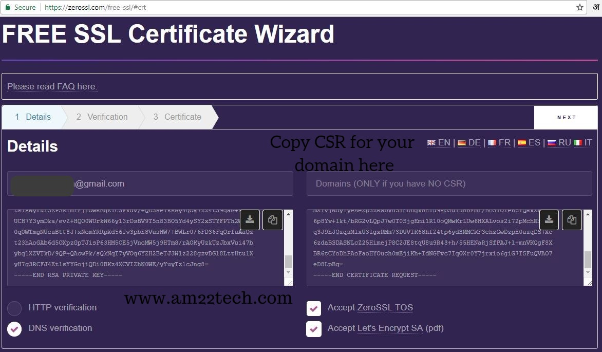 Generate Lets Encrypt Free Https Ssl Certificate Am22 Tech