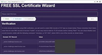 Verify certificate using DNS