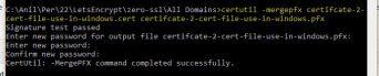 zero ssl convert to pfx file for windows