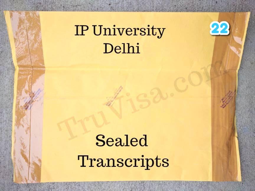 IP university sealed transcript
