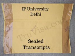 Sample IP University Transcript - Sealed Envelope