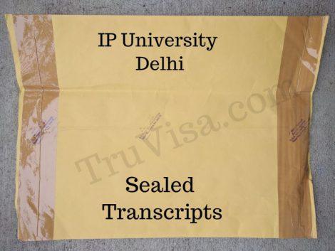 Sample IP University Transcript - Sealed Envelope