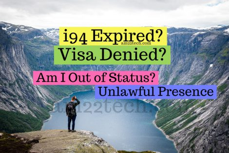 You are Out of status after i94 expiry. Unlawful presence starts after petition denial in USA