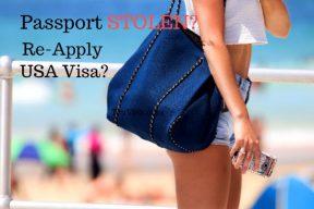Passport stolen with US visa