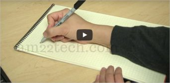 PTE test pen and notebook