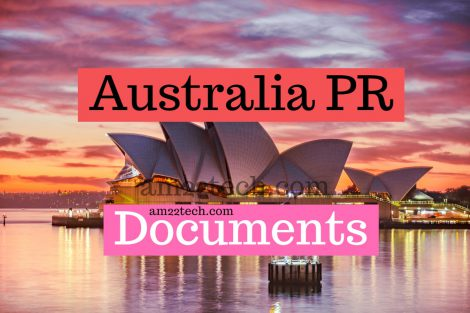 Australia PR documents for 189 190 Visa