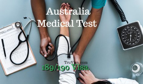 Australia skillselect 189 visa medical test