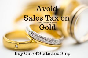 Avoid Sales Tax gold buying in USA