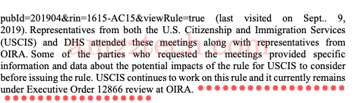 H4 EAD News Sep 2019 DHS Revoke Rule OMB Review Pending