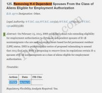 H4 EAD Removal featured in DHS semi-annual agenda