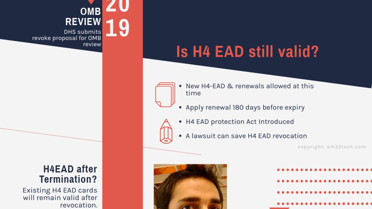 H4 EAD News Sep 2019 DHS Revoke Rule OMB Review Pending