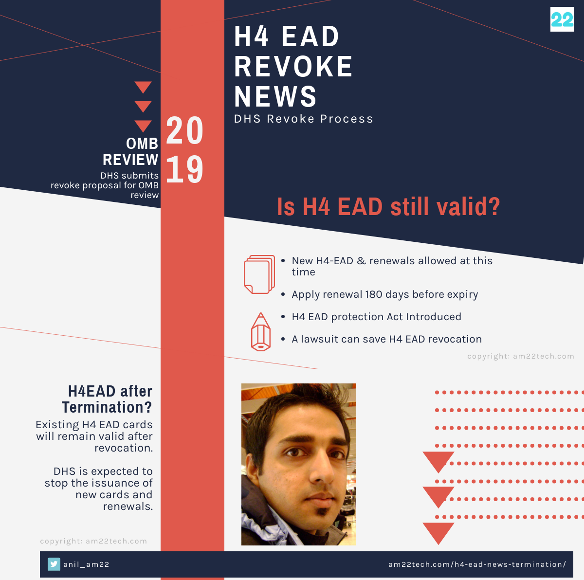 H4 EAD News Aug 2019 DHS Revoke Rule OMB Review Pending - AM22 Tech