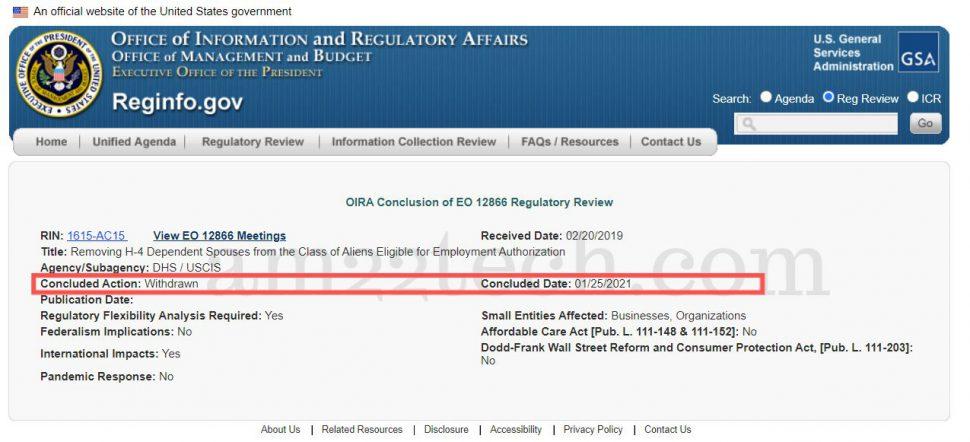 H4 EAD revoke rule withdrawn