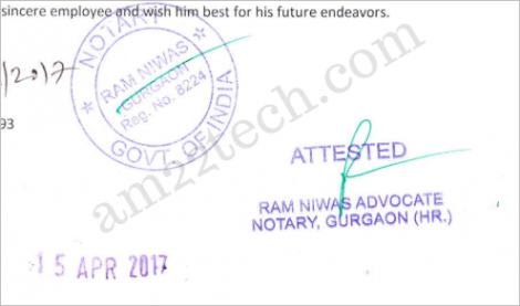 Sample notary from India for Australia PR