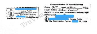 Sample notary stamp for ACS Australia documents|342x121