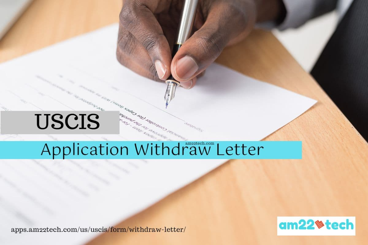 USCIS Application Withdrawal Letter