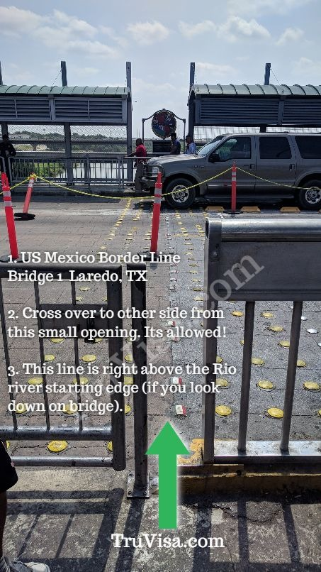 Cross bridge 1 mid-way at Laredo to join US i94 line