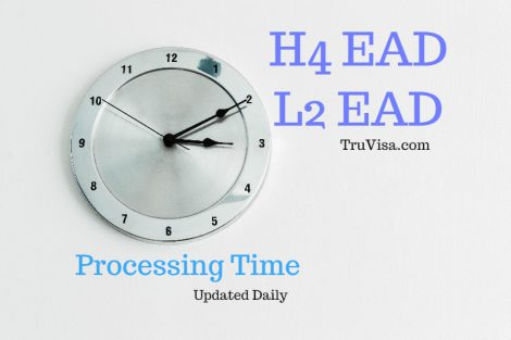 EAD processing time - Updated Daily
