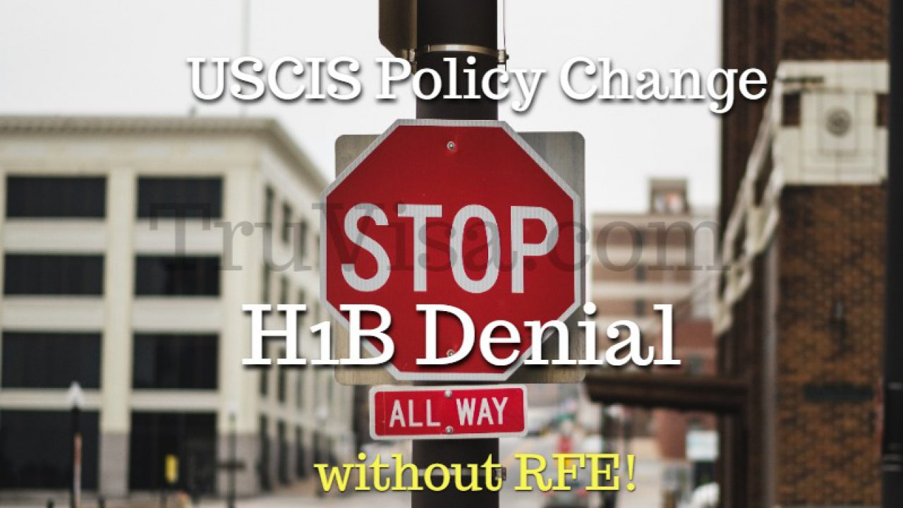 H1B Extension denial without RFE starting 9/11 - USCIS