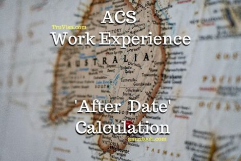 ACS Assessment Work Experience calculation