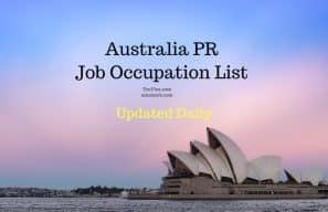 Australia PR skillselect job occupation list