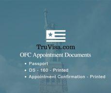OFC appointment documents required for US visa Biometrics