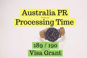 Australia PR processing time