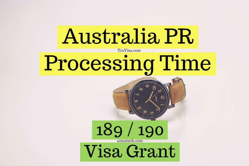 Australia PR Processing Time, 3 to 4 Month 189, 190 Visa