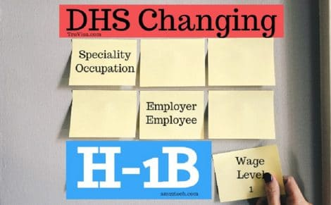 DHS agenda to revise H1B specialty occupation