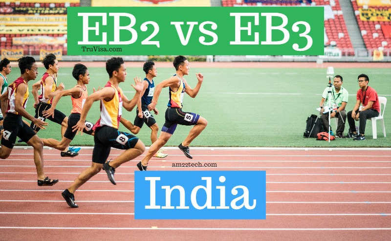 EB2 vs EB3 India race to green card