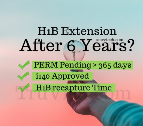 H1B extension PERM pending, Audit after 6 years - AM22 Tech